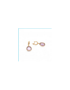 MK 012 Cercei aur roz cu...
