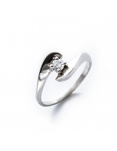 MD 065 Inel aur alb cu diamant