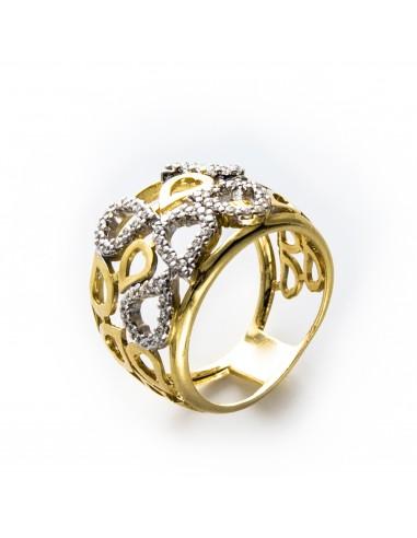 MI 040 Inel aur galben cu zirconii