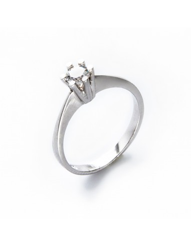 MI 489 Inel de logodna aur alb si zirconiu alb