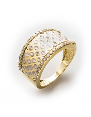 MI 497 Inel aur galben aur alb si zirconii