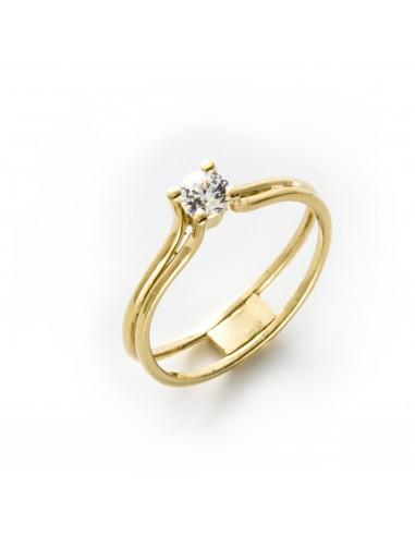 MI 436 Inel de logodna aur galben cu zirconiu alb