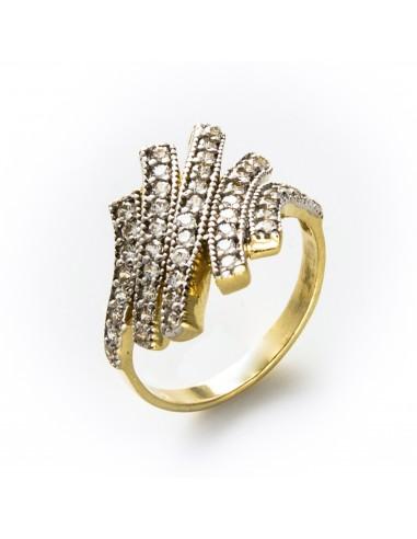 MI 028 Inel aur galben cu zirconii