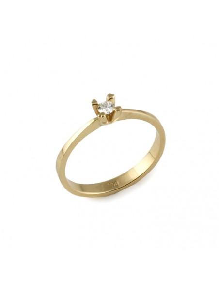 MD 164 Inel de logodna aur galben cu diamant