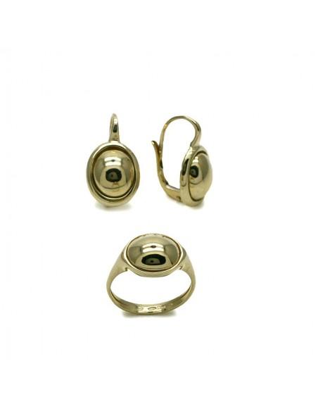 MS 432 Set Vintage cercei si inel din aur galben