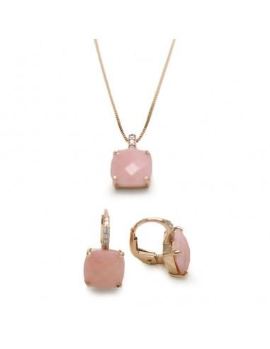 MK 227 Set aur roz 18k cu agata roz