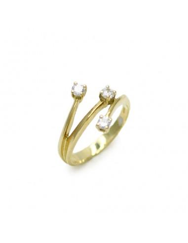 MD 166 Inel cu diamante din aur galben 18k