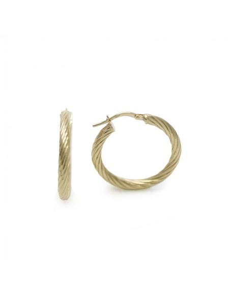 MC 966 Cercei aur galben circulari impletiti