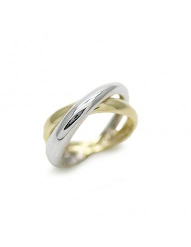 MI 866 Inel aur galben si alb in forma de x