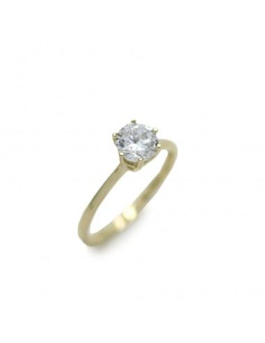 MI 884 Inel aur galben cu zirconiu alb