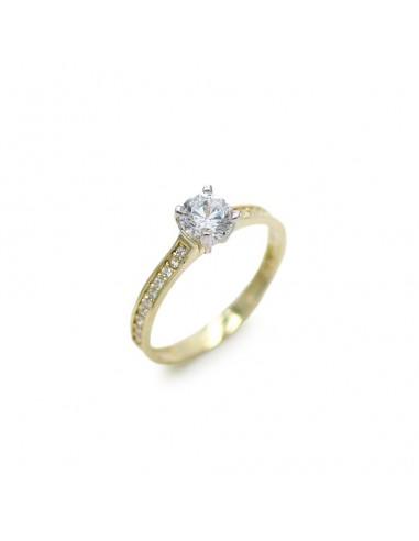 MI 912 Inel de logodna aur galben 14k cu zirconiu
