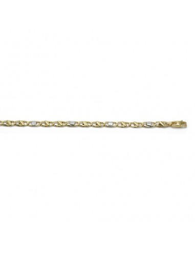 MB 440 Bratara barbateasca aur galben si alb 14 k din zale