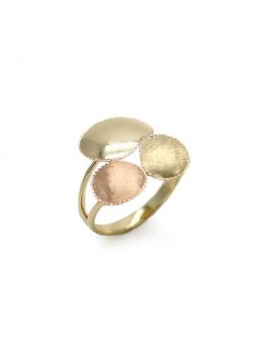 MI 919 Inel aur galben si roz 14k fara pietre