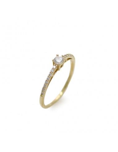 MI 024 Inel de logodna aur galben14 K si zirconii