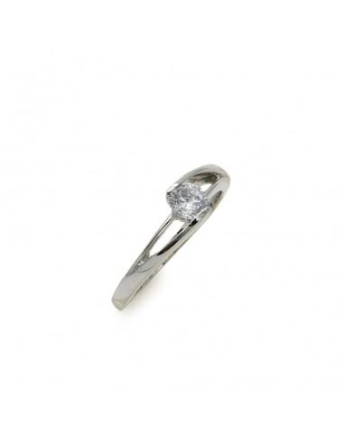 MI 046 Inel de logodna aur alb 14 k cu zirconiu