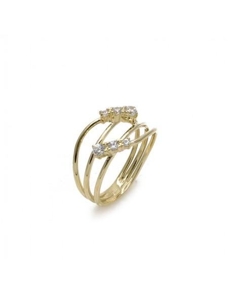 MI 075 Inel aur galben cu pietre