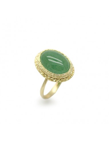 MI 175 Inel aur galben 14 K cu agata verde