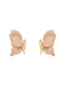 MD 009 Cercei aur roz model...